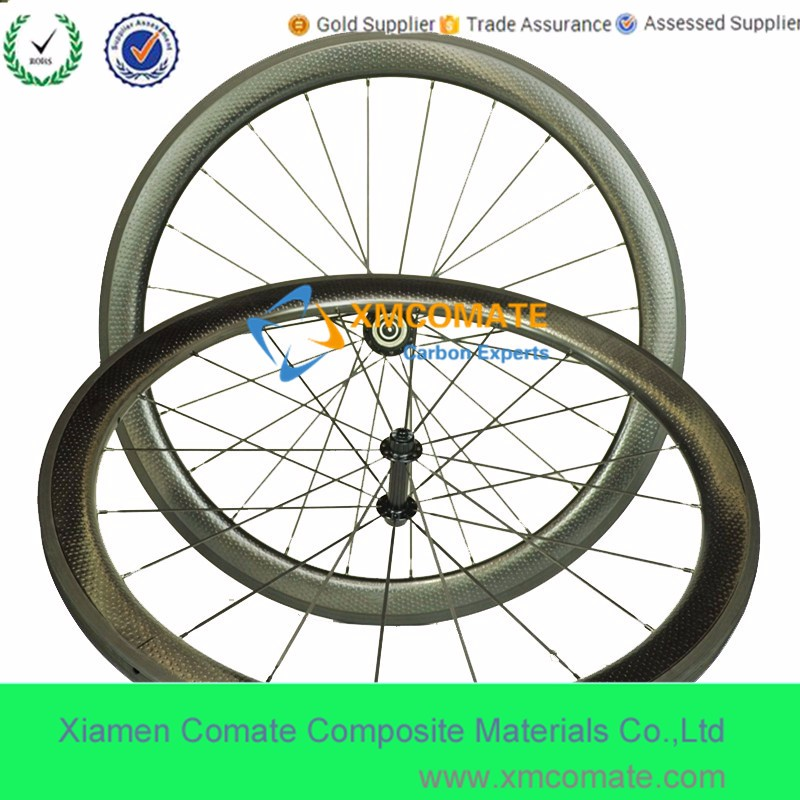Chinese Cheap Wheels Golf Surface Dimple Road Carbon Wheelset With 45mm 50mm Width Clincher Tubular Bicycle Wheels R13 Hub