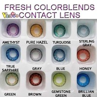 wholesale FRESH colorblends eyewear look nature cosmetic color lens12 colors contact lenses