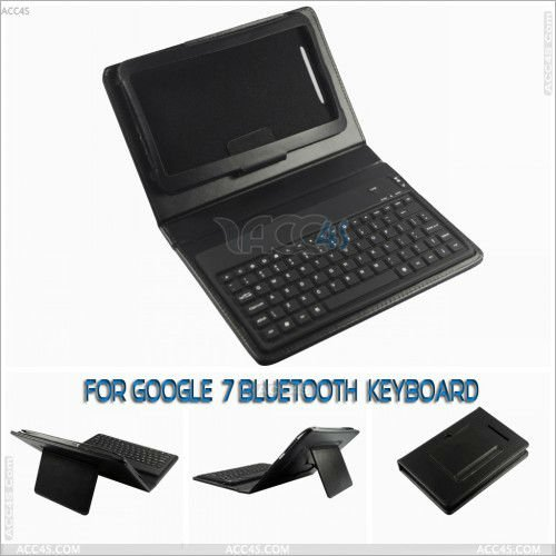 New Arrival Silicone bluetooth keyboard with Leather Case Cover for GOOGLE NEXUS 7 --P-GGNEXUS7CASE013