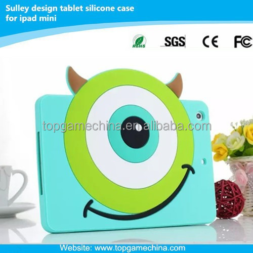 Sulley animal shape silicone case for iPad mini One-Eyed Monster