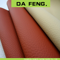 lichee pattern embossed pvc leather for car seat