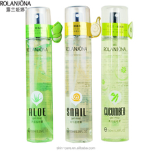 Rolanjona manufacturer cucumber gel mist & snail gel mist & aloe vera gel spray 150ml