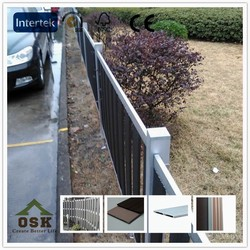 easy and simple picket fence European outdoor basic wood plastic composite fence for garden