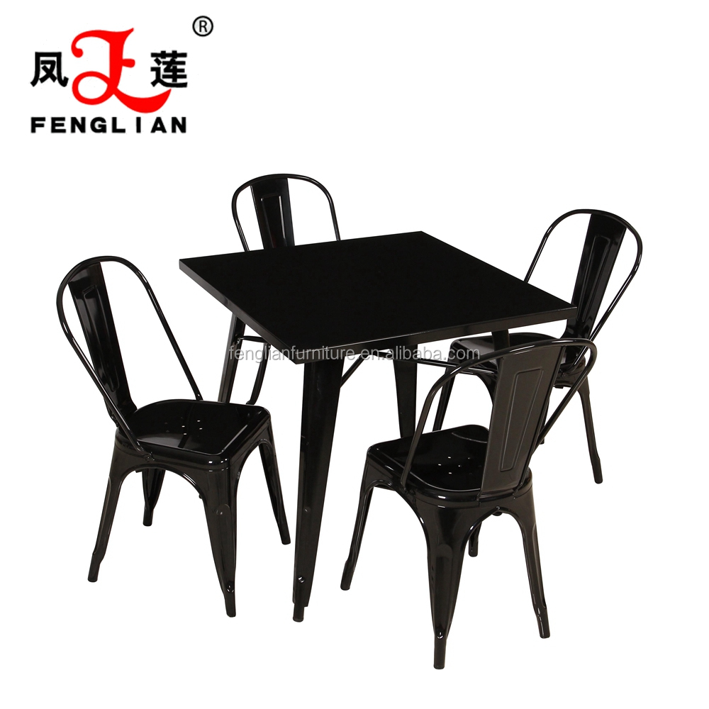 metal dining table and chairs metal dining room chairs dining 5
