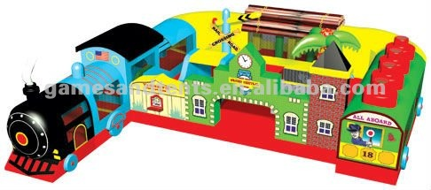 inflatable Fun Express Train Station combo games A3079