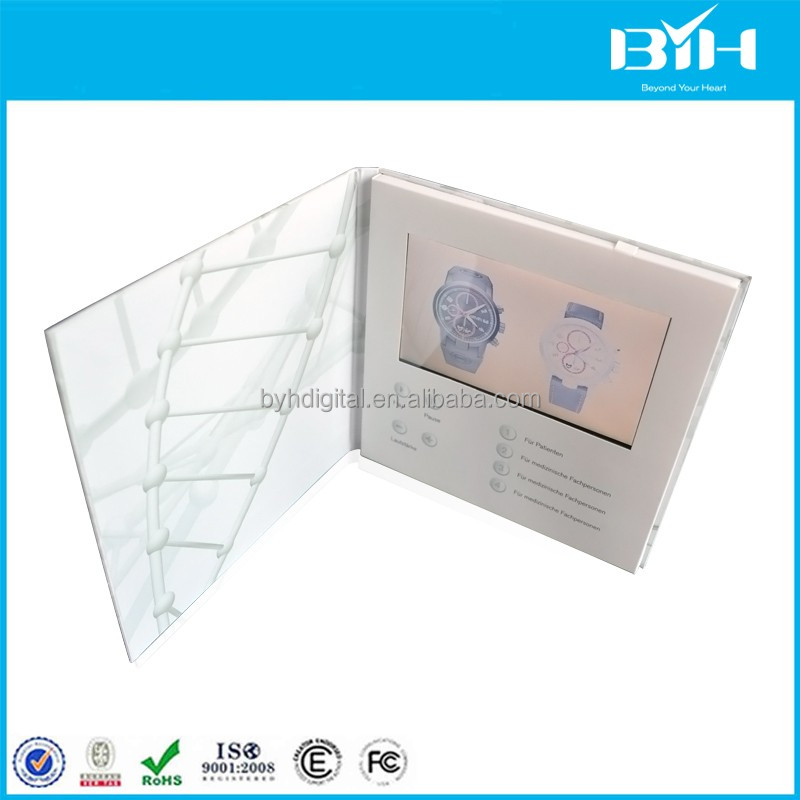 CE custom 4.3' usb digital video player greeting cards,advertising lcd video booklet,video playing greeting brochure
