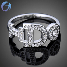 New character letter ring with I DO fashion jewellery
