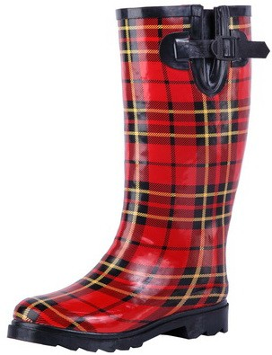 2016 red striperain boots rubber for women and girl