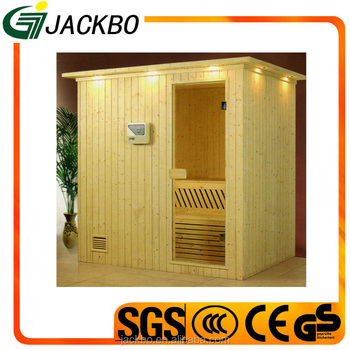 High quality wood cabin house finland white pine wooden sauna room