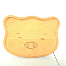 Wholesale Wooden Customized Kids Different Shape <strong>Plate</strong> Baby Serving Tray