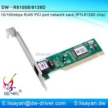 Cheapest 10/100mbps Realtek rtl8139d Rohs PCI Card Drivers