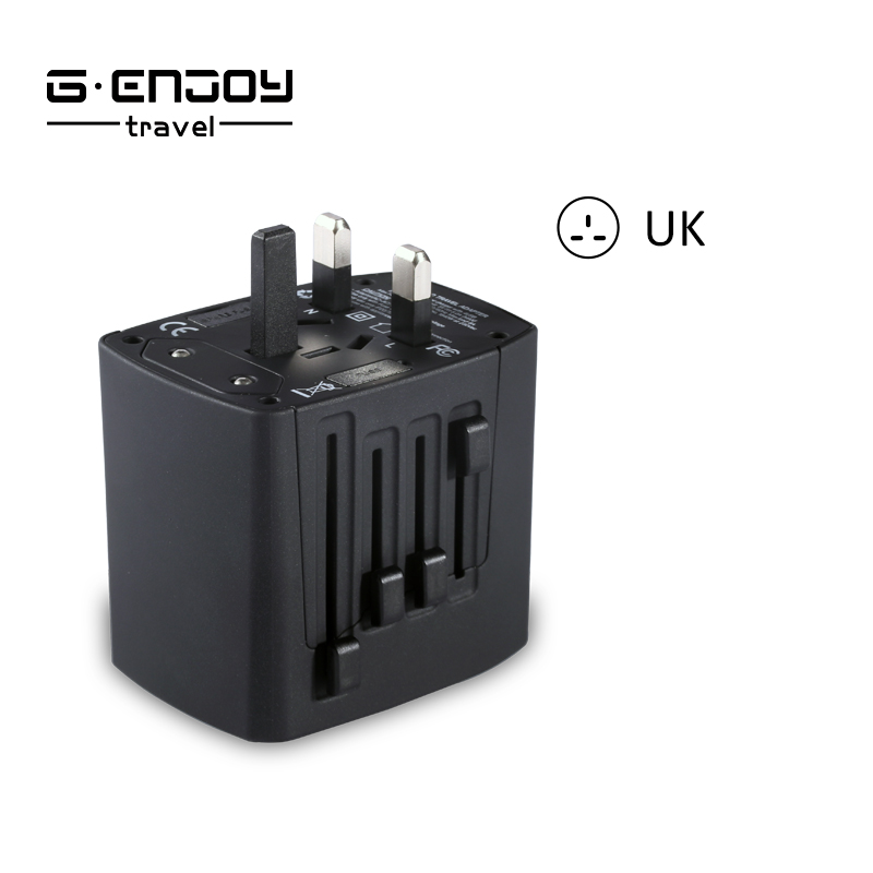 birthday gift for lover 2017 Genjoy Travel Items Travel Adapter with 4 port USB