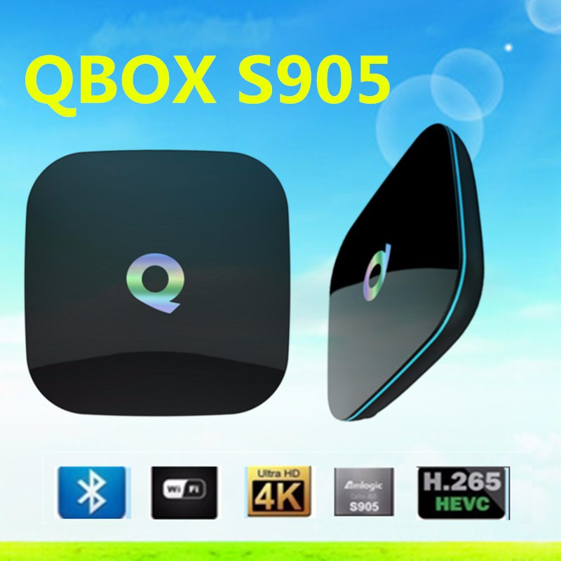 2016 hot selling Q Box Amlogic S905 Google Android 5.1 2G 16G H.265 Quad Core Qbox Android TV Box