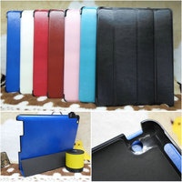 2014 New product 4 folded stand leather case for iPad 2 3 4