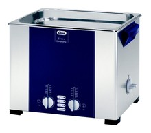Elma Elmasonic S100H 9.5 Liter Heated Ultrasonic Cleaner, Degassing, 300 x 240 x 150 mm Part No: 100 2279