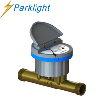 Ultrasonic principle Residential plastic water meter covers with brass tube