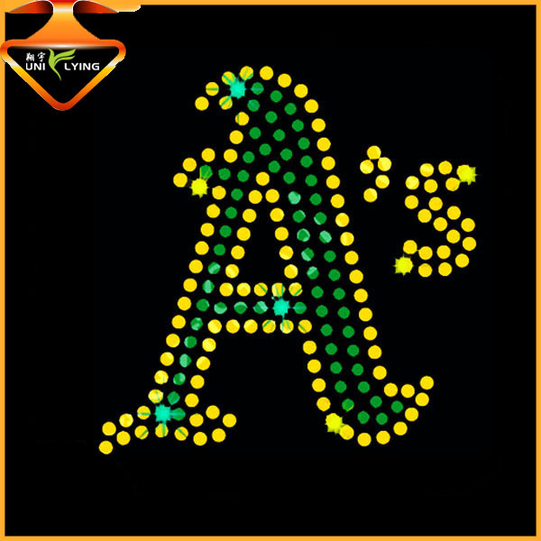 Special letter crystal heat transfer strass motifs