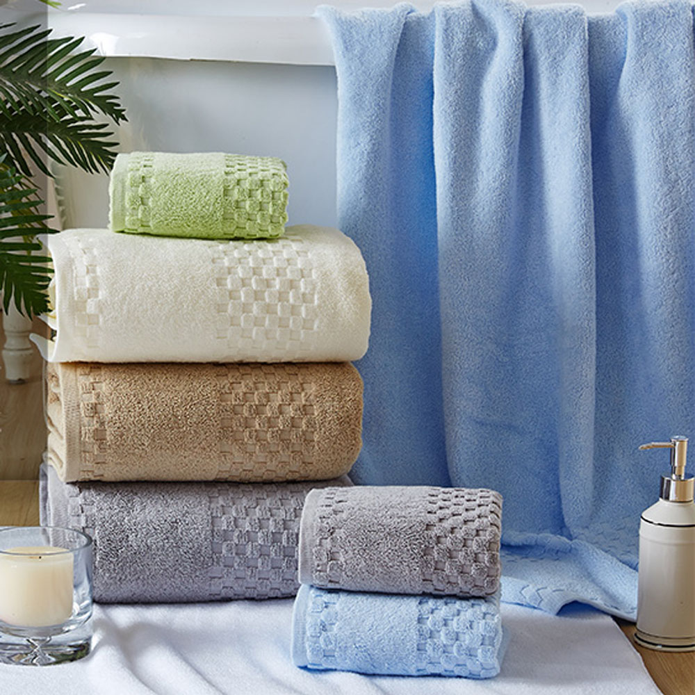 soft and comfortable 100% cotton terry bath towels