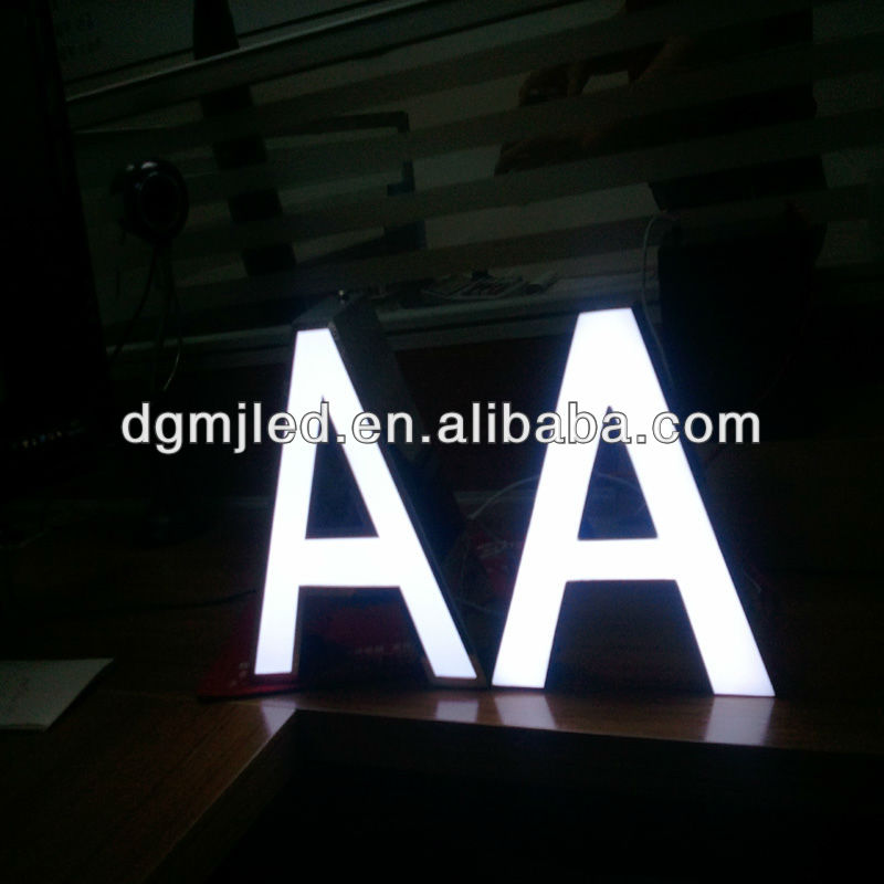 High brightness stainless steel sign