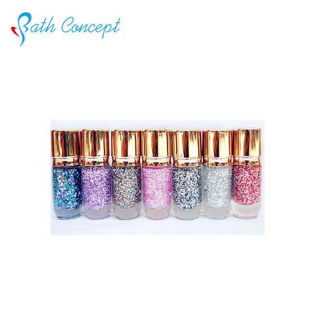 New design metallic glitter powder colorful nail polish