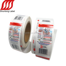 Safe grade adhesive warning logo label sticker for electrical appliance