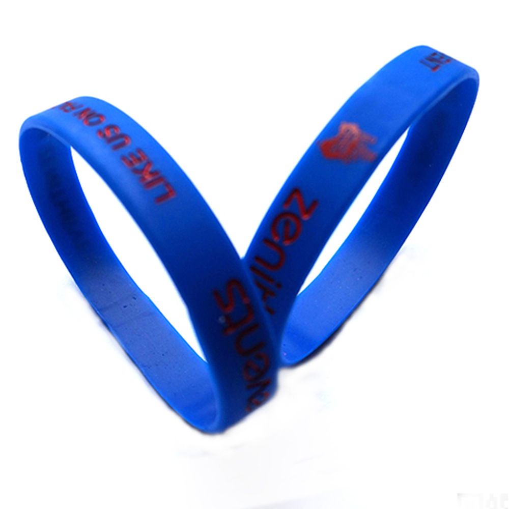 Sports Colorful Logo Customized Rubber Silicone Epoxy Wristbands