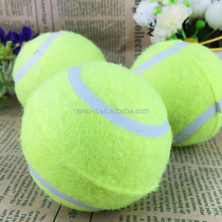 Cheap eco-friendly hot-sale rubber tennis chew toy dog toys tennis ball