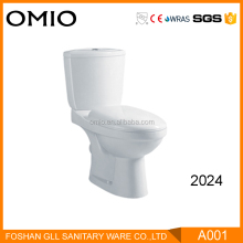 Africa P trap wholesale bathroom two piece toilet wc toilet