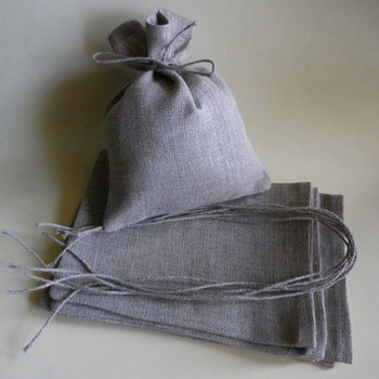 rustic wedding favor natural linen bags