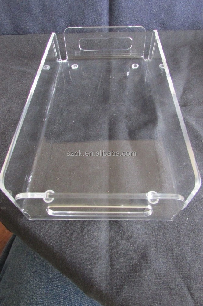 good quality acrylic tray acrylic serving trays with handle