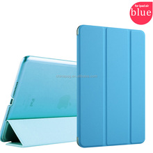 New fashional Slim Magnetic high quality mix color 10''tri-fold Cover Leather tablet pc case for Ipad 5/apple Ipad air1