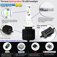2 years 3000LM 40W PHI LUXEON-MZ DC12-24v H1 H3 880 881 Car led headlight PHILIP-S 880 881 H1 H3 car led headlights for toyota