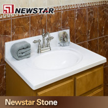 Newstar White Marble Vanity Top Labradorite Countertops Xiamen Supplier