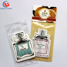 New design hot selling mini flavor good scents auto car air freshener