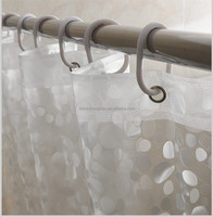 3d waterproof shower curtain, led shower curtain
