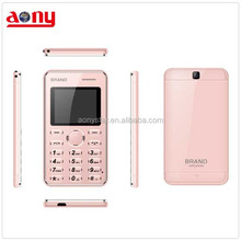 Small and thin mobile phone pocket mini card phone OEM/ODM celular phone