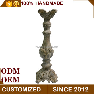 Magnesium Oxide Antique Tall Candle Holder