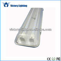 1200mm IP65 double row tubes 36w t8 tri-proof led tube light fitting