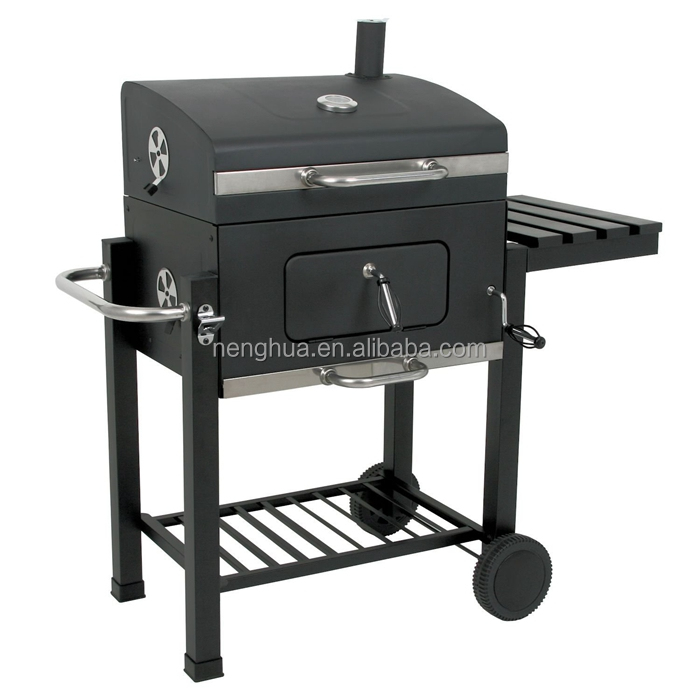Large Garden Euro Barbecue Smoking Grill Trolley