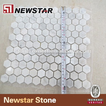Hotel marble mosaic natural stone floor pattern
