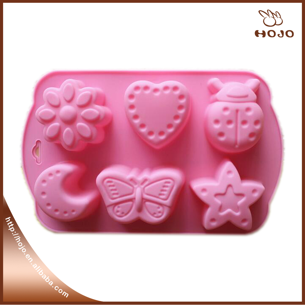 DIY silicone bakeware stable silicone chocolate mold jelly pudding mold Butterfly Star Flower Insect shape