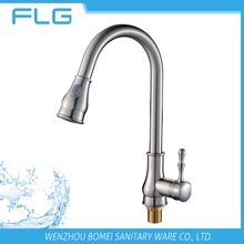 High Quality Factory New Product Modern Style Lead Free HealthyNickel Brushed Pull Out Kitchen Sink Faucet FLG9808