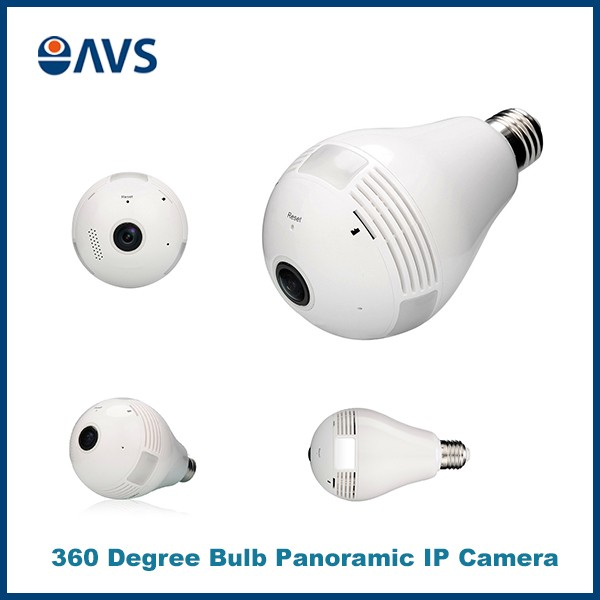 960P 1.3MP 360 Degree Fisheye Panoramic Hidden Camera Light Bulb