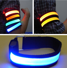 Good design road safety led light armband for night running