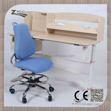 hot sell and stable Home care height adjustable kids plastic study cum computer table