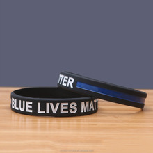 New Arrival Blue Lives Matter Bracelets silicone wristband custom logo band
