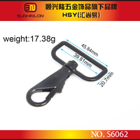 Wholesale D ring accessories bag rigging snap hook lobster claw trigger hook