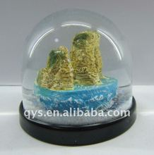 Nature scenery snow globe