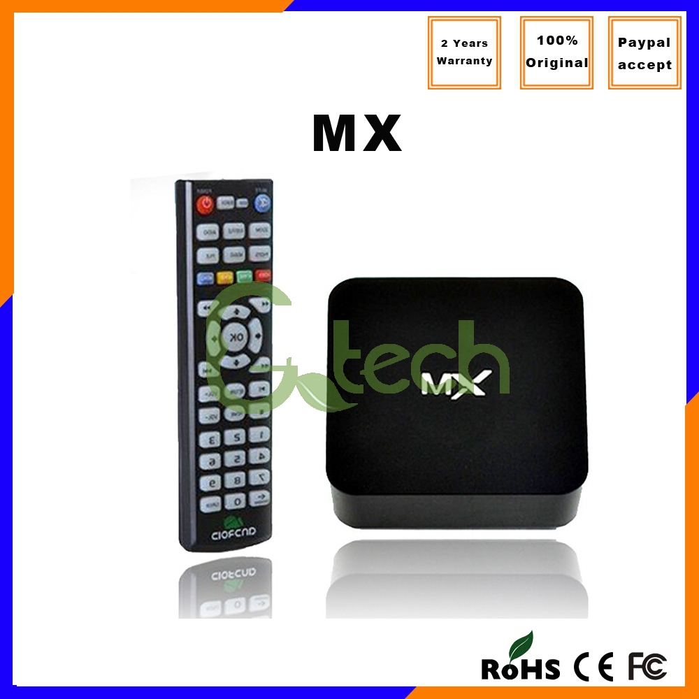 2015 hot sale hd 1080p 4k Dual Amlogic 8726 MX box 1G/8G Android4.2 Kodi XBMC MX tv series dvd box set top box android