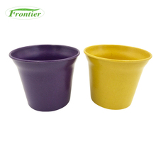 Wholesale personalized natural bamboo fiber balcony small pieces mini plants decorative pots for garden